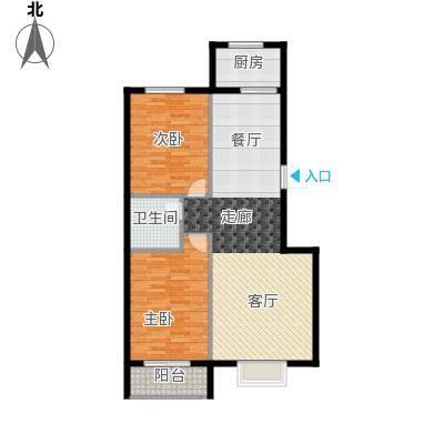 广厦上城广厦上城 户型图户型2室2厅1卫