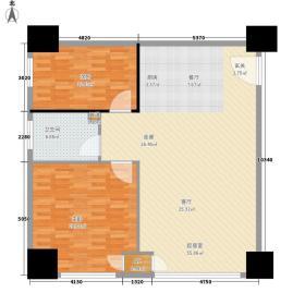 华域城105.39㎡5号楼I公寓2面积10539m户型
