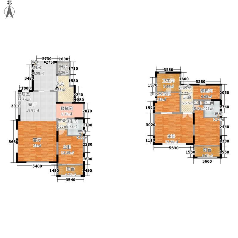 金屋秦皇半岛221.88㎡二区叠拼别墅a1左边室(5-6f)户型4室3厅