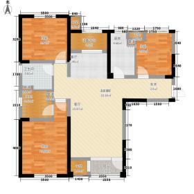 联发第五街118.98㎡二期高层20#标准层01户型