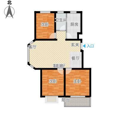 海东盛景33号楼 A户型 三室两厅一卫 101㎡户型3室2厅1卫