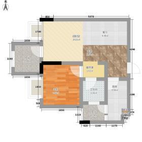 新跨越I3363.58㎡I33A4户型1室1厅