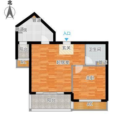 碧玉家园一期一房一厅一卫-65平方米户型