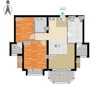 碧玉家园一期二室一厅一卫-88.72-91.20平米户型