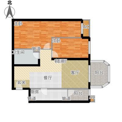 碧玉家园一期二房一厅一卫-89.25平方米户型