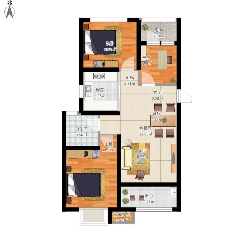 历城-祥泰99新河湾-设计方案户型图大全,装修户型图