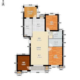 果岭湾132.80㎡5#6#楼B户型3室2厅