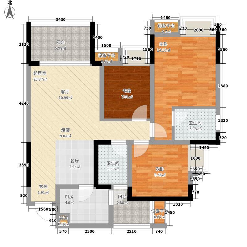 融汇江山融汇半岛·艾德公馆5号楼b户型3室2厅