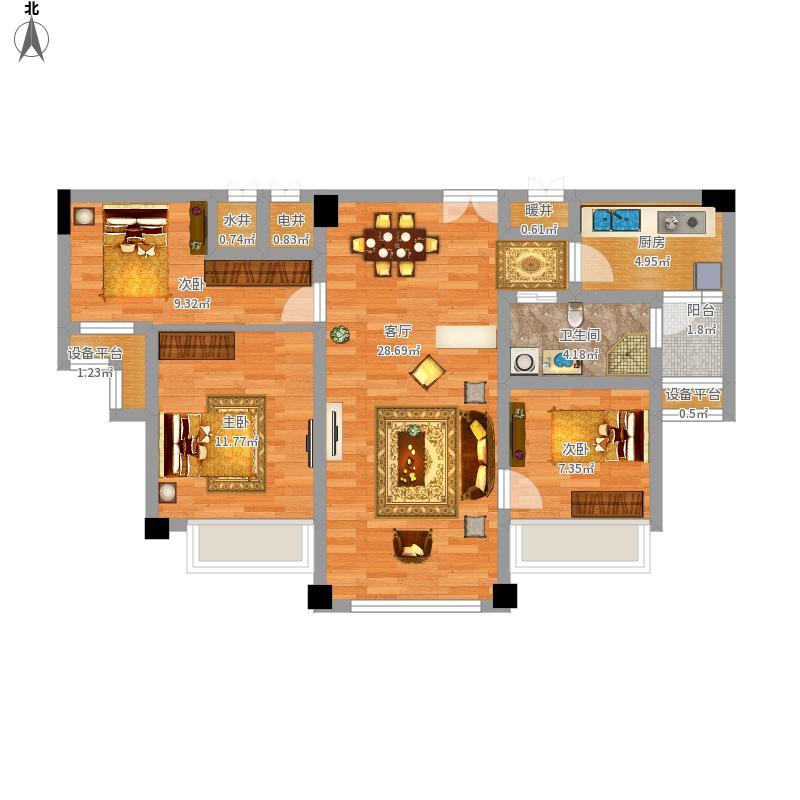 城阳-青岛碧桂园-设计方案户型图大全,装修户型图,图