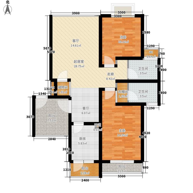 82㎡多层花园洋房c栋面积8582m户型-副本
