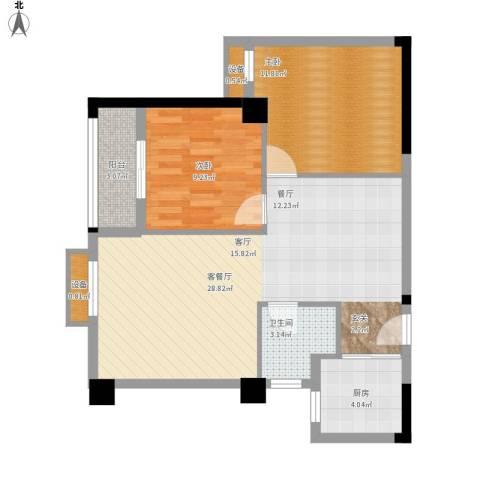 同馨花园雍豪府户型图25#楼B-2面积82.93㎡