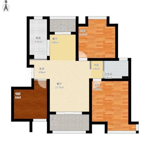 汇智湖畔110平小三房-装修稿1