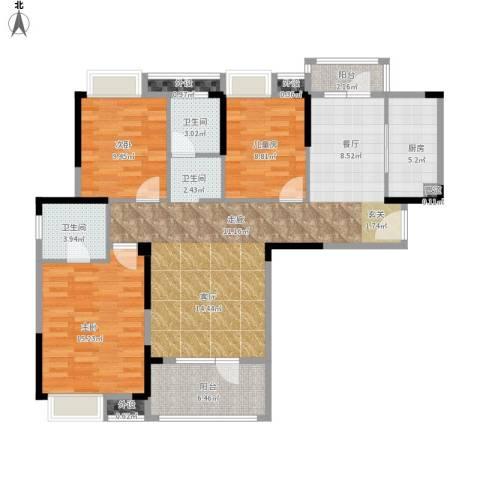 王家湾中央生活区户型图14、21面积124.00㎡