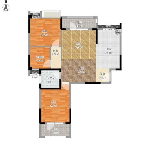 王家湾中央生活区户型图13栋B1面积103.00㎡