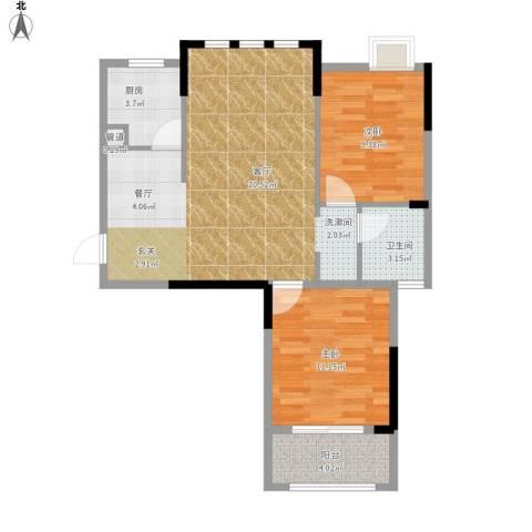 王家湾中央生活区户型图3、8、面积87.00㎡