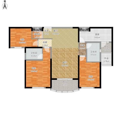 月湖琴声户型图D4栋3号房D5栋面积142.98㎡