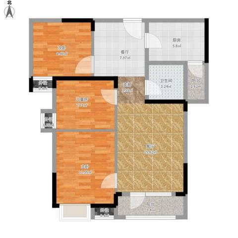 王家湾中央生活区户型图13、14面积93.00㎡