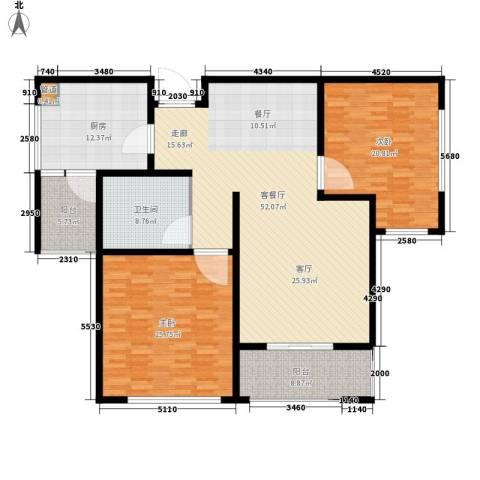 学府花苑户型图户型图 2室2厅1卫1厨-副本