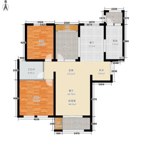 万杨香樟公寓125.00㎡面积12500m户型-副本