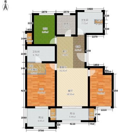 万科长风别墅125.00㎡长风公寓12面积12500m户型-副本-副本