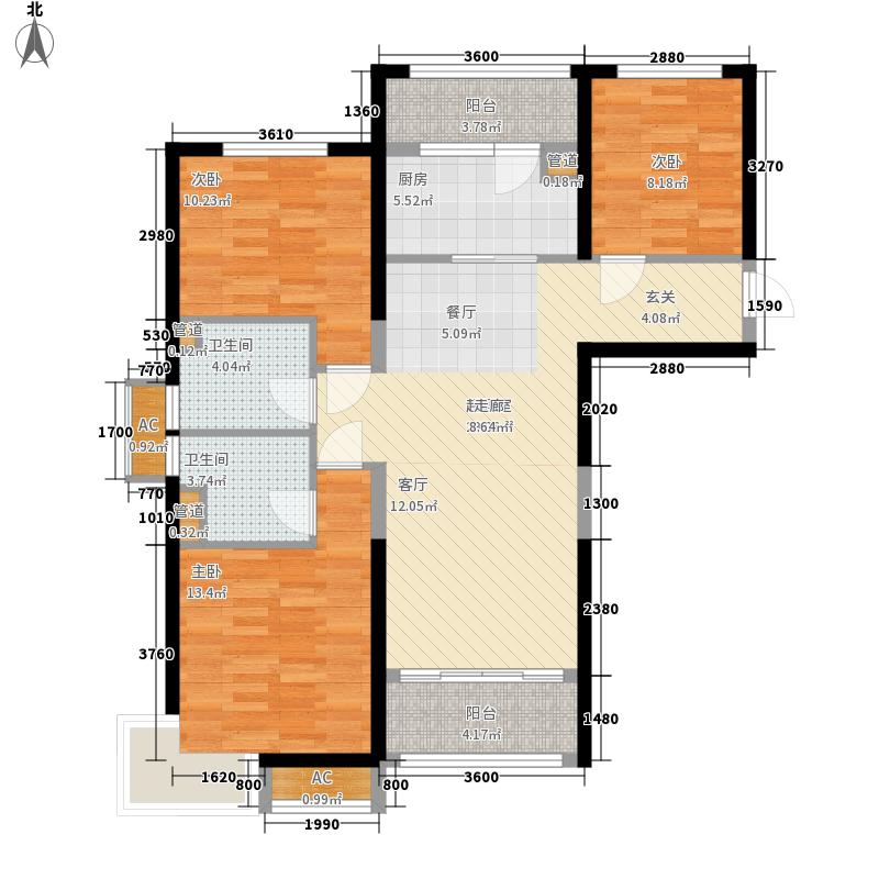 青岛碧桂园118.79㎡湖景洋房j552户型3室2厅-副本