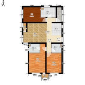 亿城堂庭126.00㎡二期高层标准层D户型