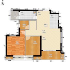 彩虹城96.56㎡A5型(一期)户型2室2厅1卫1厨