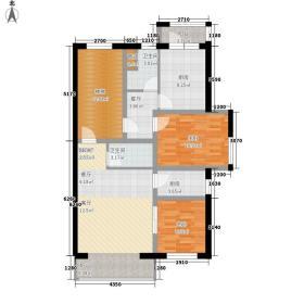 嘉业景园一号楼户型1室1厅1卫1厨