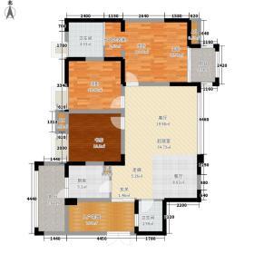清河阳光126.00㎡6、13、14、15号楼标准层F户型3室2厅2卫1厨