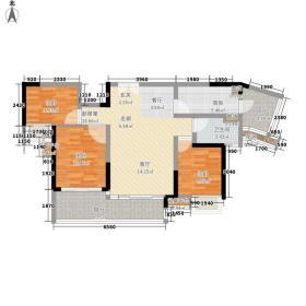 中惠璧珑湾95.00㎡10栋02户型3室2厅