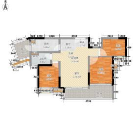 中惠璧珑湾95.00㎡9栋02户型3室2厅
