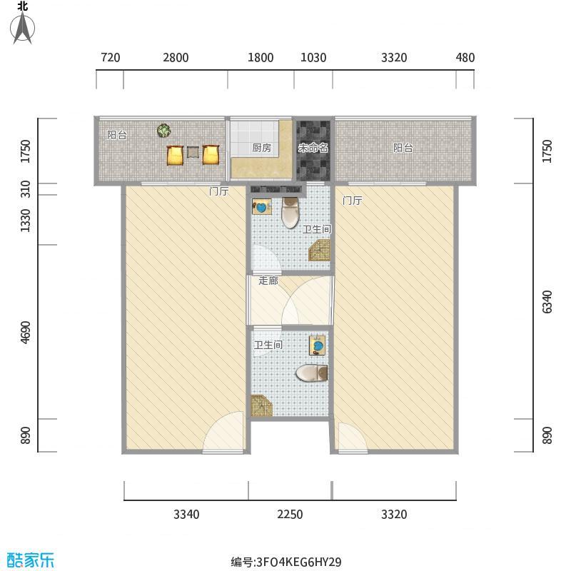 海吉星绿色公寓单间效果-副本-副本_设计方案_装修图