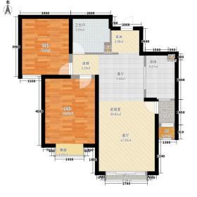 金地大厦221户型2室2厅1卫1厨