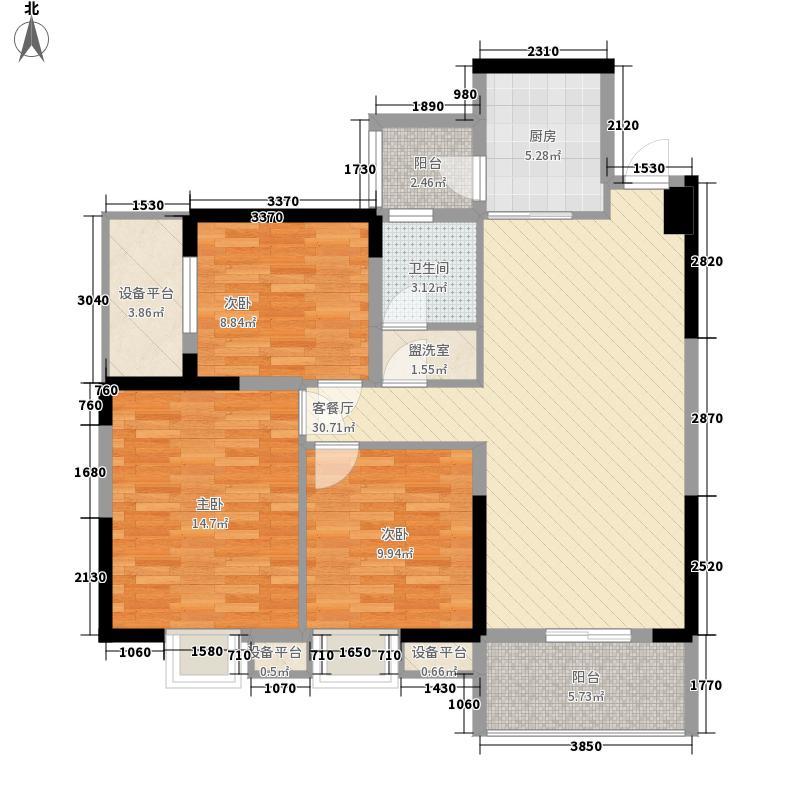 户型设计 现代森林国际城  湖北 仙桃 现代森林国际城 套内面积:87.