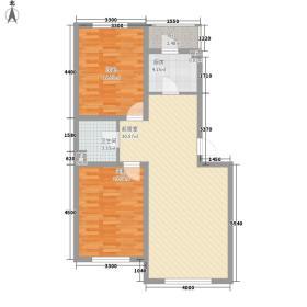 假日名居87.01㎡假日名居户型图G2户型图2室2厅1卫户型2室2厅1卫