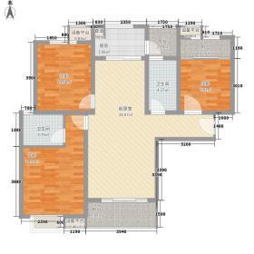 曲江紫金城118.98㎡户型3室3厅