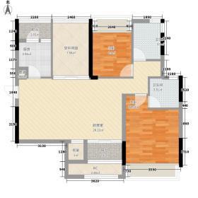 金地格林上院金地格林上院2室2厅户型2室2厅