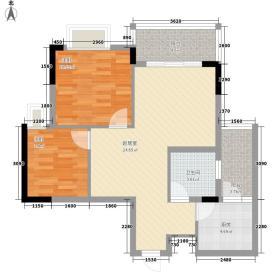 央郡72.19㎡一期B1户型2室2厅1卫1厨