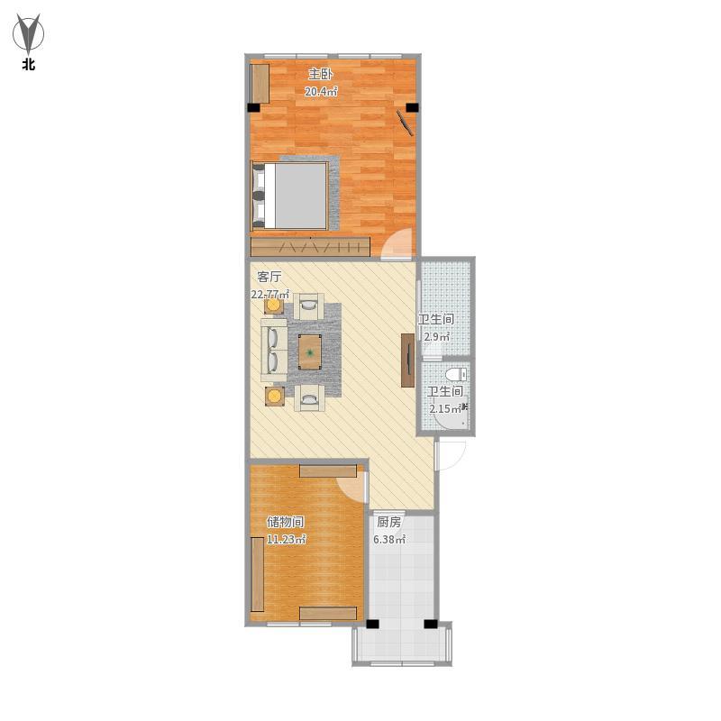 农村四室一厅房屋平面设计图展示