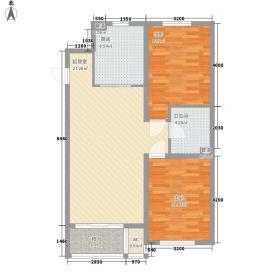 金色玺园90.00㎡B5户型2室2厅1卫1厨