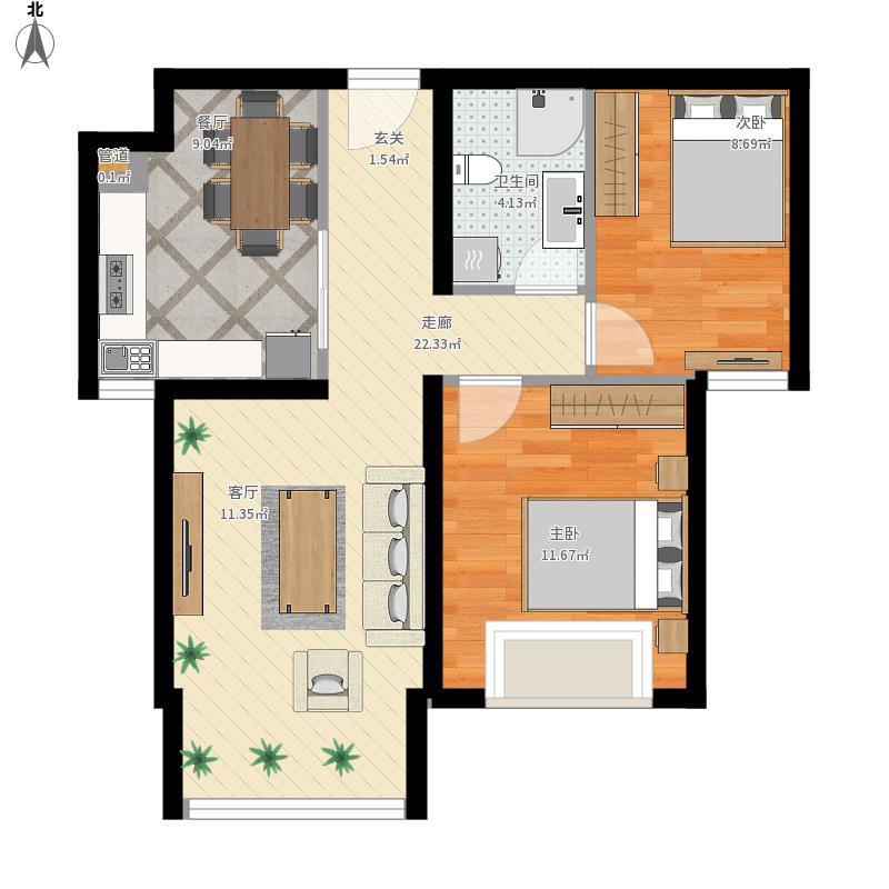 封闭厨房-设计方案1