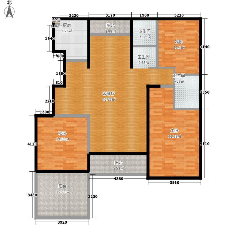 黄河龙城半岛御境145.32㎡洋房g2户型3室2厅2卫1厨