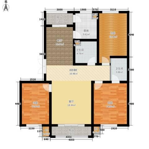 阳光帝景134.00㎡阳光音域户型3室2厅2卫1厨-副本