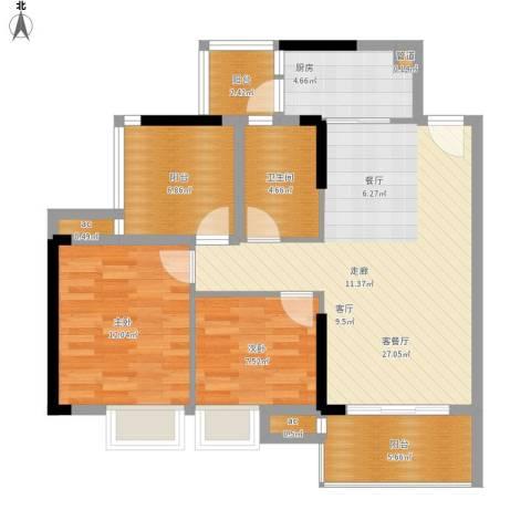 惠州方直.星耀国际A户型93-94平米二室二厅-副本