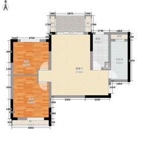 美林青城梧桐道88.00㎡美林青城梧桐道户型图30号楼B12室2厅1卫户型2室2厅1卫