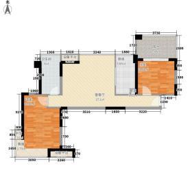 泛海拉菲花园83.44㎡B1户型2室2厅1卫