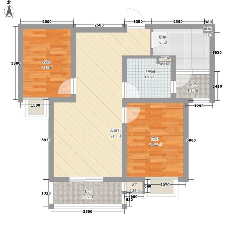 户型设计 华美风景园d3户型  江苏 徐州 华美风景园 套内面积:54.