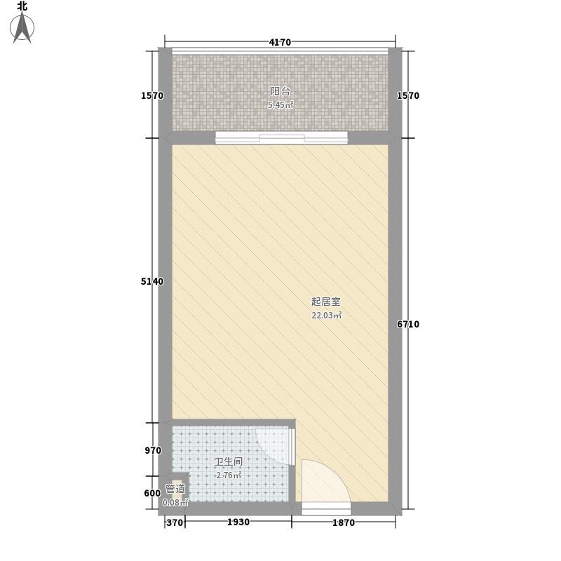23㎡南海家园户型图3号楼c户型图1室1卫1厨户型1室1卫1厨
