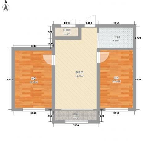 隆泰碧水山城37号楼标准层G户型
