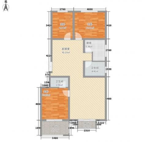 博鑫青年城133.82㎡E3户型3室2厅2卫1厨